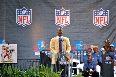 Art Monk makes his speech at the NFL Hall of Fame, 2008