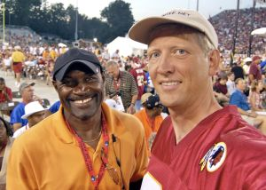 Me with former Skins Kick Returner Mike Nelms