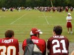 Redskins fans watch training camp. (Notice the Art Monk jersey!)